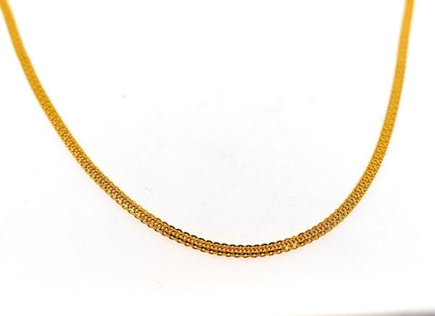 22k 22ct Yellow Solid Gold ELEGANT FLAT SIMPLE BISMARK BRAIDED Chain c930