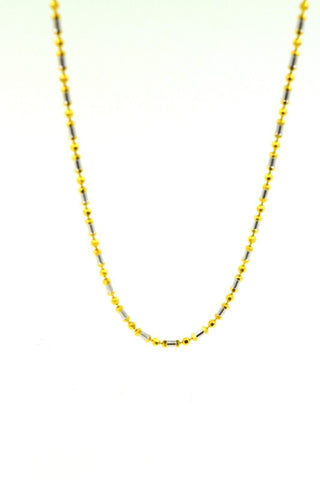 22k Yellow Solid ELEGANT Gold Chain Necklace 1.7mm c142 white diamond cut box | Royal Dubai Jewellers