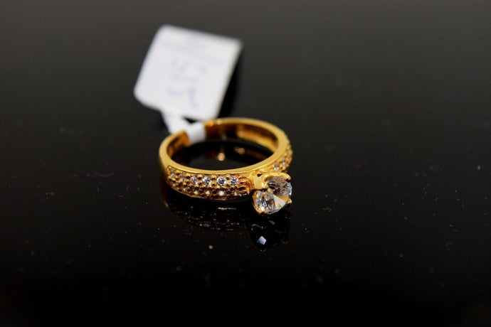 22k Solid Gold ELEGANT Ring BAND with FREE18k BOX