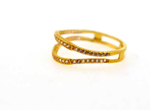 "22k 22ct Solid Gold LADIES RING JACKETS SIZE 6.5"" RESIZABLE"" R1626"