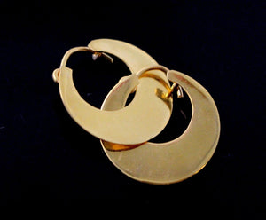 22k Jewelry Solid Gold Murki Murkiya EARRING Hoop Design E5799 | Royal Dubai Jewellers
