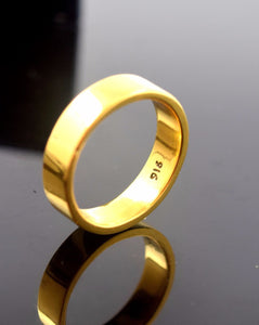 "22k Solid Gold ELEGANT MEN Ring Band Exquisite Design ""RESIZABLE"" R521"