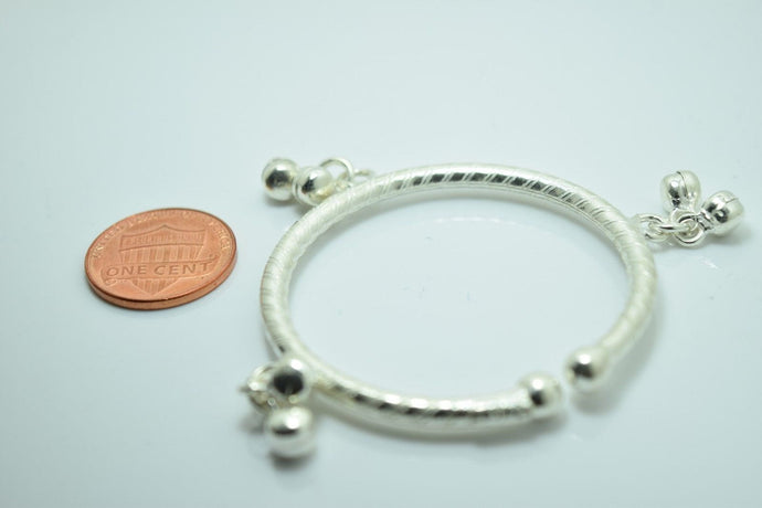 1PC HANDMADE Baby Solid Silver Bracelet 925 sb15 Sterling Children Bangle Cuff
