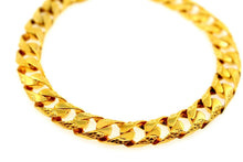 14k 14ct Solid Gold ELEGANT MEN CURB LINK DESIGNER Bracelet B871 | Royal Dubai Jewellers