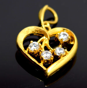 22k 22ct Solid Gold ELEGANT UNIQUE HEART Pendant Locket P41
