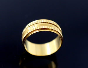 "22k 22ct Solid Gold DIAMOND CUT ANTIQUE LADIES RING SIZE 6.0' RESIZABLE"" R1630A"