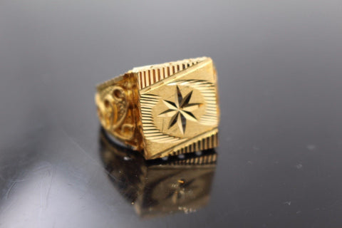 "22k 22ct Solid Gold ELEGANT Charm Mens Ring SIZE 10 ""RESIZABLE"" r1066"