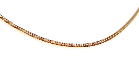 22k 22ct Yellow Solid Gold ELEGANT BRAIDED THIN TWO TONE Chain Necklace c934 | Royal Dubai Jewellers