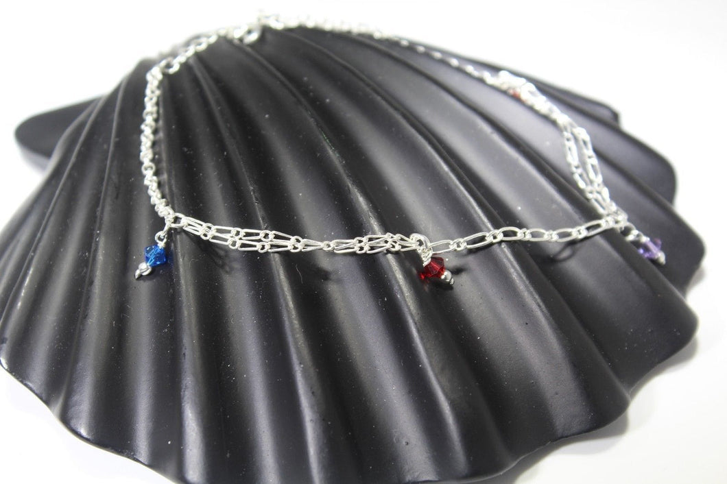 11PC HANDMADE Solid Silver Payal 925 sbb131 Sterling adult ladies Anklets
