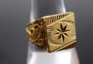 "22k 22ct Solid Gold ELEGANT Charm Mens Ring SIZE 10 ""RESIZABLE"" r1066 