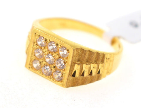"22k 22ct Solid Gold ELEGANT Mens Ring SIZE 9.5 ""RESIZABLE"" R1063"