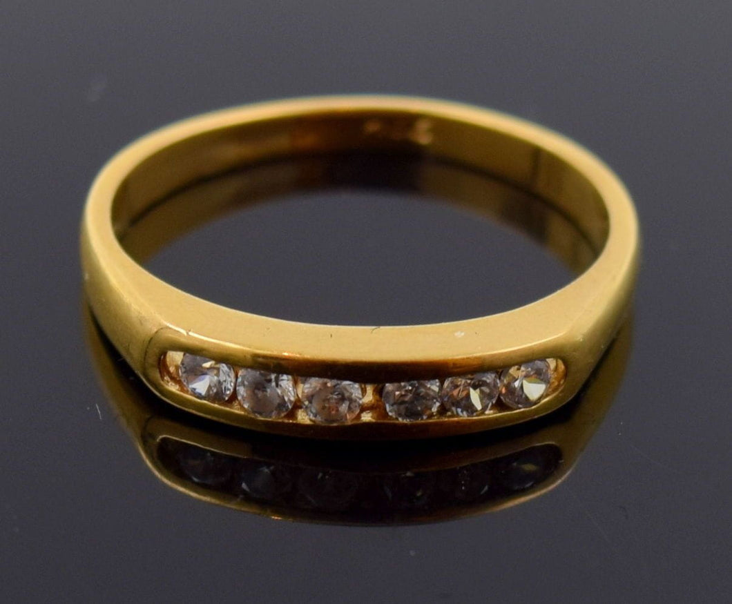 22k 22ct Solid Gold ELEGANT WOMEN ZIRCONIA SINGLE BAND Ring