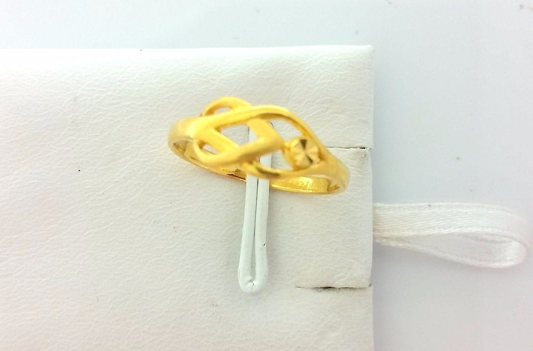 22k Solid Gold Ring Size 6 custom size available 215