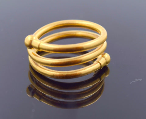 "22k Jewelry Solid Gold ELEGANT Ring Unique Charm Design ""RESIZABLE"" R730"