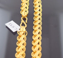 22k Gold Solid DESIGNER DOUBLE STYLISH CURB MEN THICK CHAIN LENGTH 20in c513 | Royal Dubai Jewellers