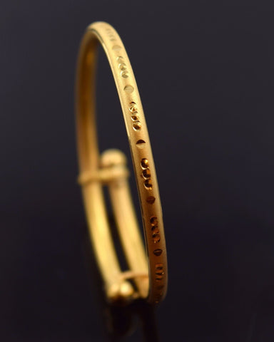 22k 22ct Solid Gold BEAUTIFUL DESIGNER BABY KIDS BRACELET ADJUST BANGLE mf - Royal Dubai Jewellers