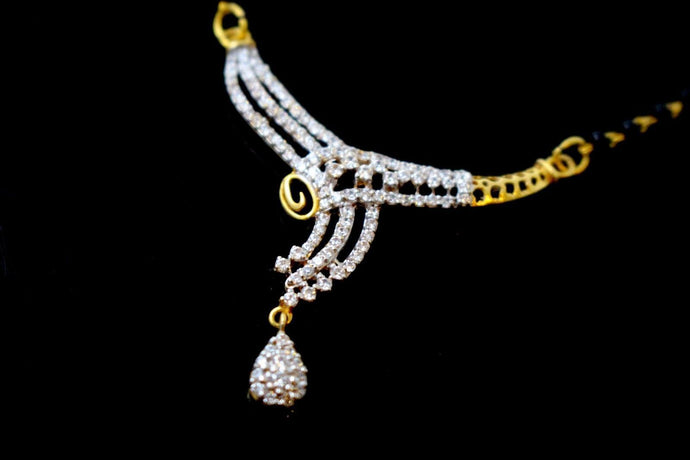 22k Gold Solid Yellow Elegant Chain Mangalsutra CHAIN Length 20 inch c926
