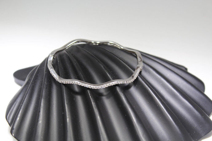 1PC HANDMADE women b53 Solid Sterling Silver 925 size 2.25 inch kara Bangle Cuff