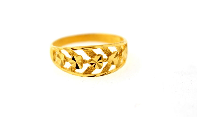 22k 22ct Solid Gold ELEGANT Ladies Designer Ring SIZE 6.0