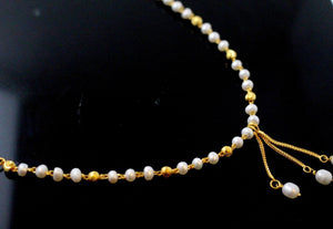 22k 22ct Chain Yellow Solid Beautiful Gold Pearl Necklace Chain c897