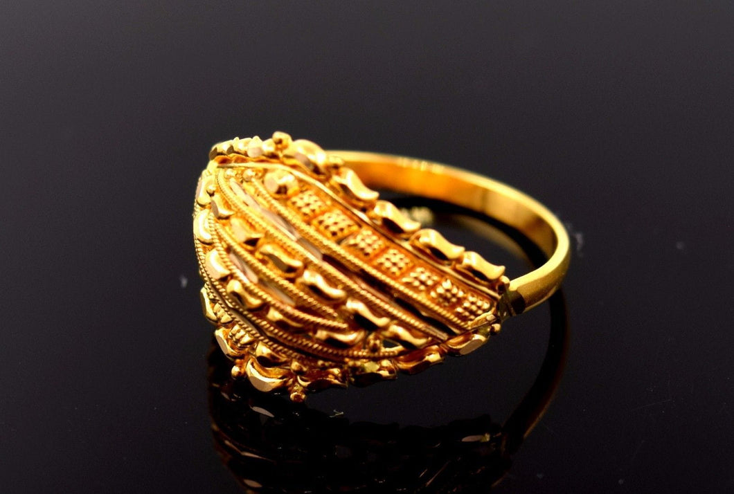 22k 22ct Solid Gold ELEGANT LADIES BAND Ring SIZE 6.2