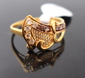 "22k 22ct Solid Gold ELEGANT Ladies Ring SIZE 8.5 ""RESIZABLE"" R104"