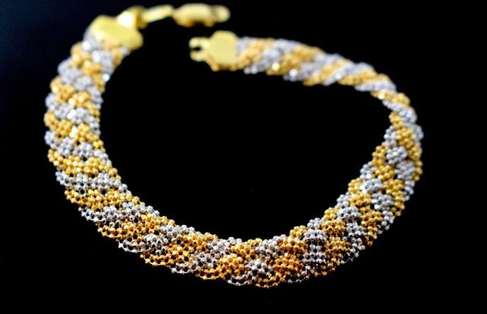 22k Gold ELEGANT TANGLED DESIGN LADIES BRACELET B883