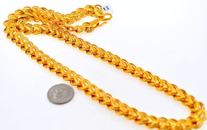 22k Gold Solid DESIGNER DOUBLE STYLISH CURB MEN THICK CHAIN LENGTH 20in c513