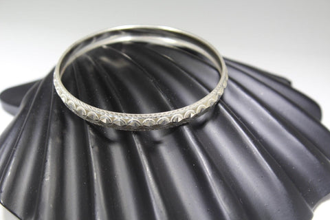 1PC HANDMADE women b89 Solid Sterling Silver 925 size 2.25 inch kara Bangle Cuff