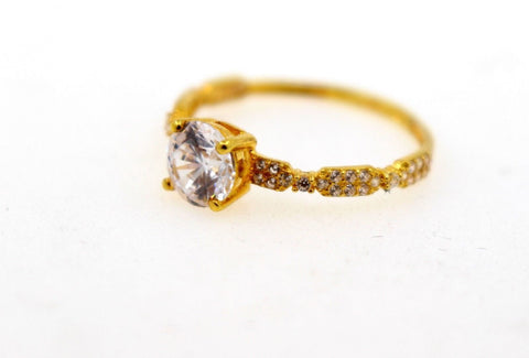"22k 22ct Solid Gold DIAMOND CUT LADIES RING SIZE 6.5' RESIZABLE"" R1623 