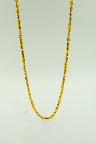 22k Yellow Solid Gold Chain Rope Necklace 1.8mm c160 Unique Box Design
