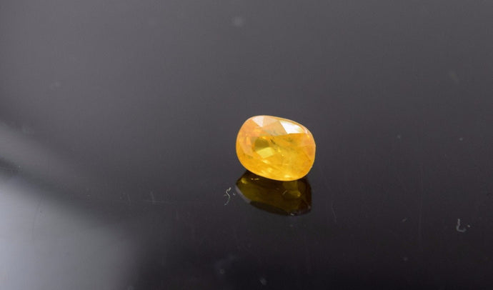 Rare Natural Tanzania Yellow Sapphire Lose Stone Excellent Cut 5.85ct no1