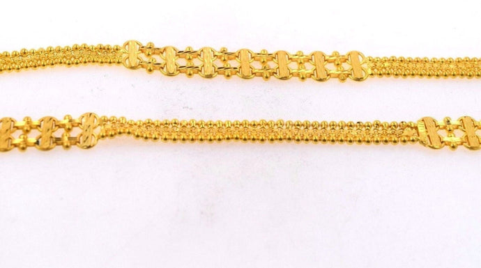 22k 22ct Yellow Solid Gold LONG LADIES TRADITIONAL Chain Necklace LGHT 35 c562 | Royal Dubai Jewellers