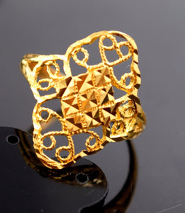 "22k Jewelry Solid Gold ELEGANT Ring Classic Design ""RESIZABLE"" R591a"