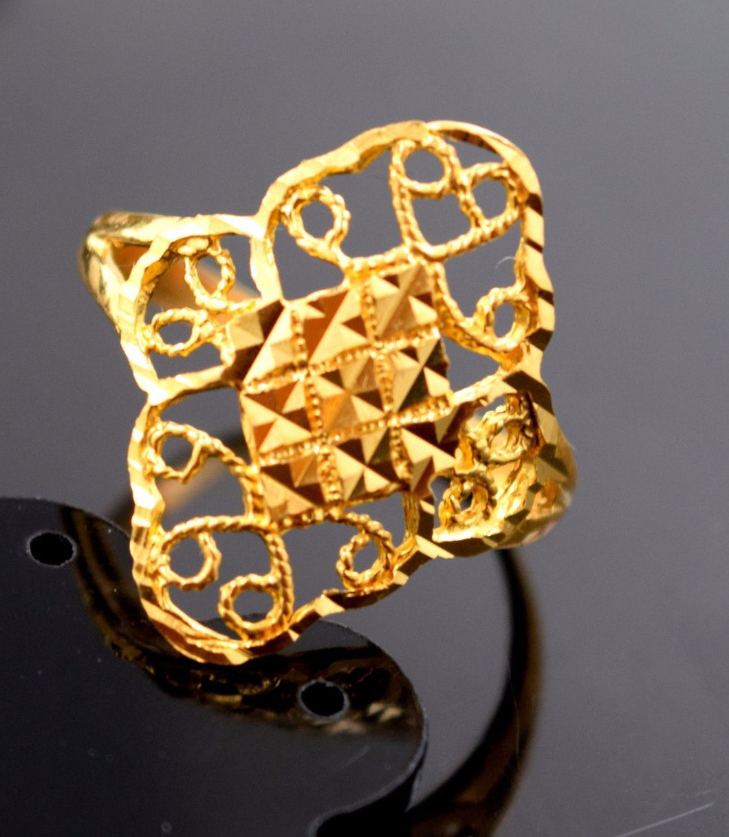 22k Jewelry Solid Gold ELEGANT Ring Classic Design