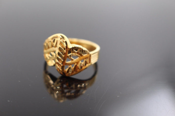 22k 22ct Solid Gold ELEGANT Charm LADIES Ring SIZE 7.5