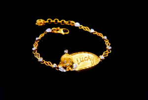 22k 22ct Solid Gold ELEGANT BABY Bracelet length 6.0Inch CB321 with unique box