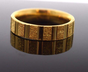 "22k 22ct Solid Gold LASER CUT UNISEX Ring BAND ""RESIZABLE"" size 13.5 r784"