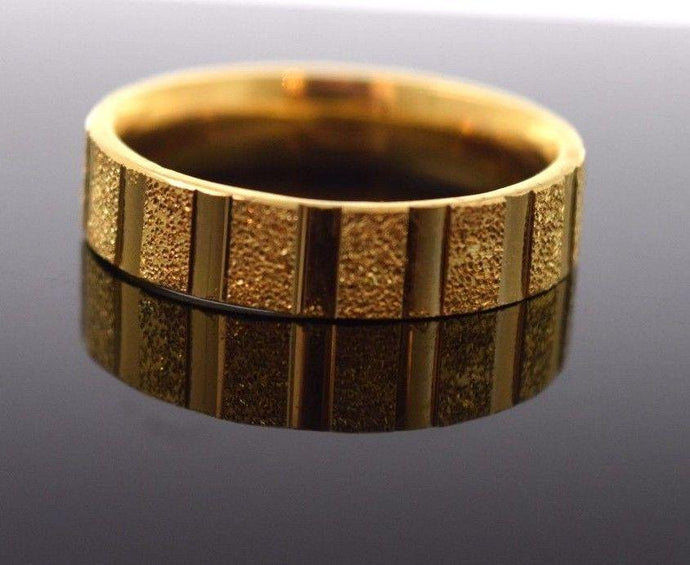 22k 22ct Solid Gold LASER CUT UNISEX Ring BAND
