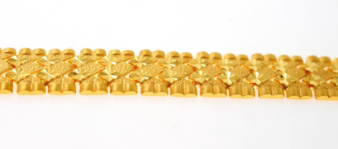 22k 22ct Solid Gold ELEGANT MEN DESIGNER WIDER BROAD BRACELET B877