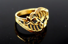 "22k Solid Gold DESIGNER DIAMOND CUT LADIES RING SIZE 7.5 ""RESIZABLE"" R1606"
