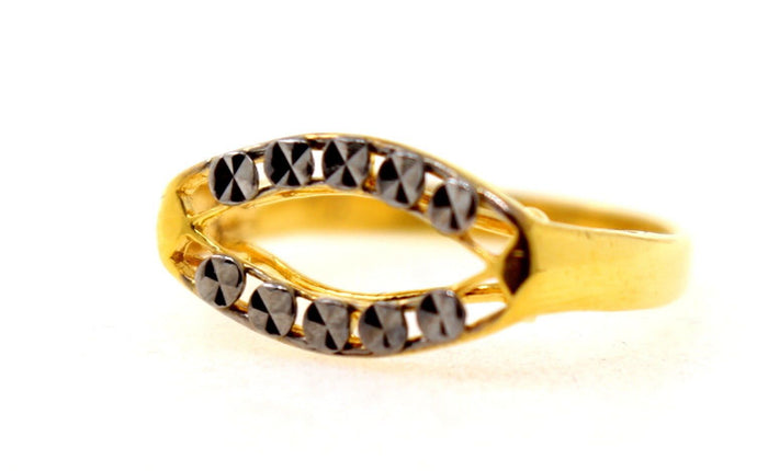 22k 22ct Solid Gold ELEGANT RHODIUM Ring BAND