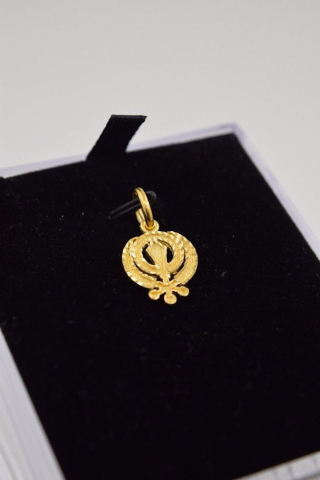 22k 22ct Solid Gold Sikh Religious pendant charm locket p291