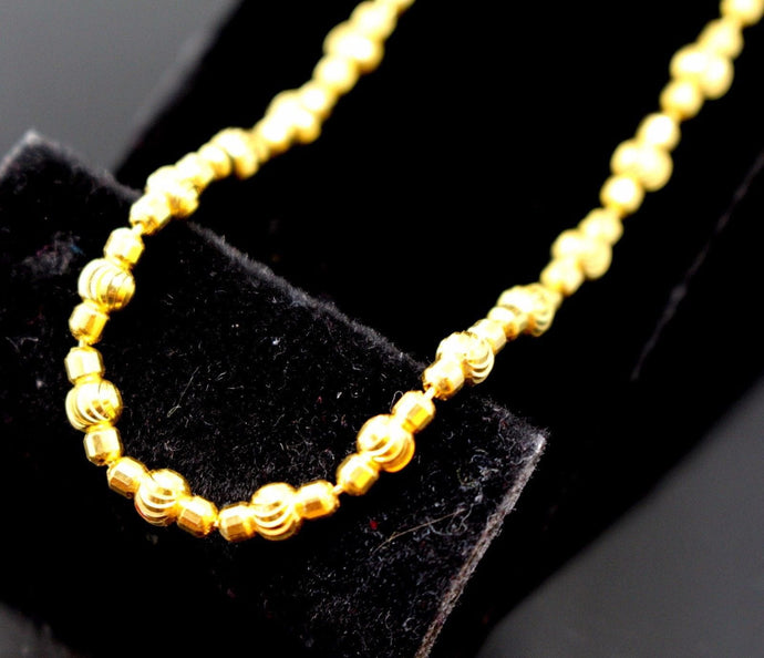 22k 22ct Yellow Solid Gold DESIGNER ITALIAN Chain Necklace 3.3mm C568 | Royal Dubai Jewellers