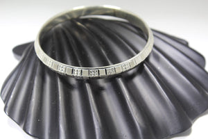 1PC HANDMADE Men b30 Solid Sterling Silver 925 size 2.75 inch kara Bangle Cuff