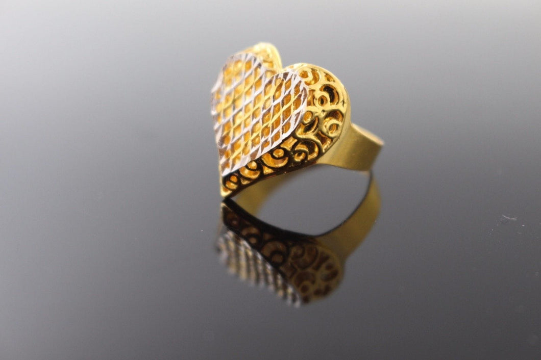 22k 22ct Solid Gold ELEGANT LADIES Ring SIZE 7.5 RESIZABLE
