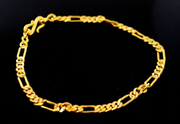 22k 22ct Solid Gold ELEGANT THIN LINKED MEN'S DESIGNER Bracelet B899