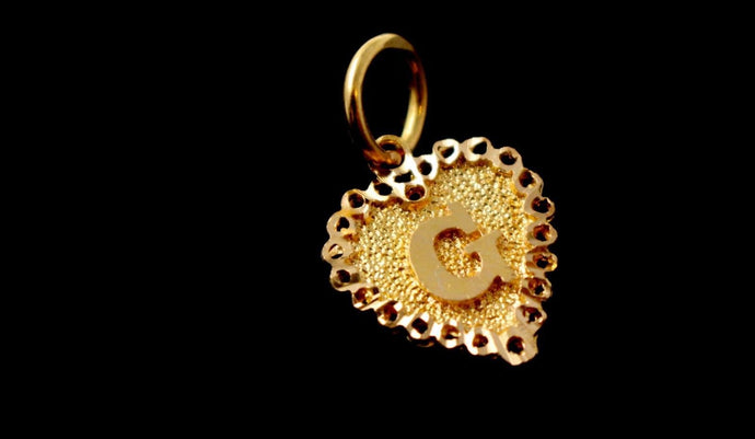 22k 22ct Solid Gold ELEGANT Heart Shape G LOCKET Pendant P829