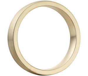14k Solid Gold Matte Low Dome Comfort Fit Wedding Ring 5mm Custom Size Avaliable