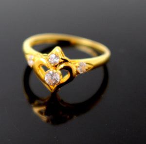 "22k 22ct Solid Gold BEAUTIFUL BABY CHILD ZIRCONIA Ring BAND ""RESIZABLE"" R1194"